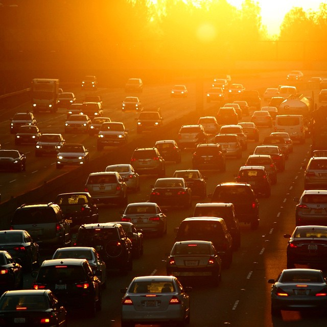 Traffic Photo at Sunset