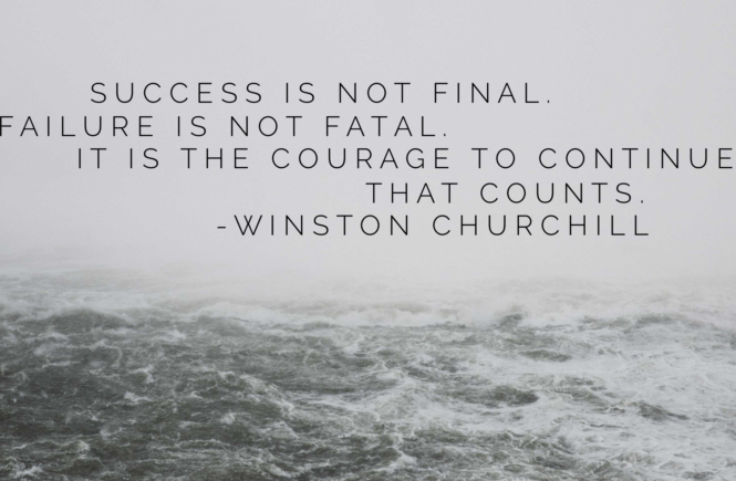 Winston Churchill Quote on Failure