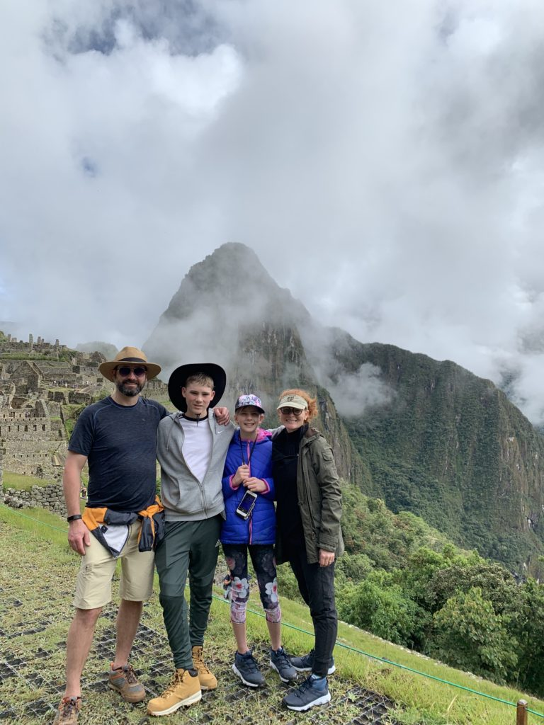 Image of Family at Machu Picchu