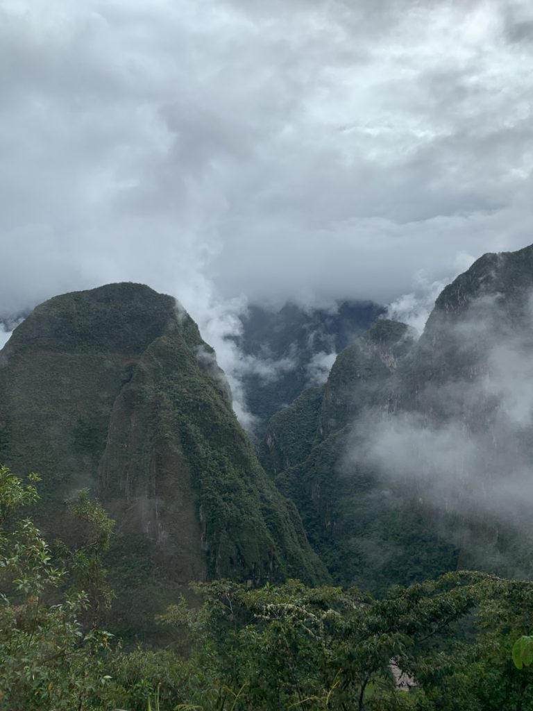 Image of a view at Machu Picchu