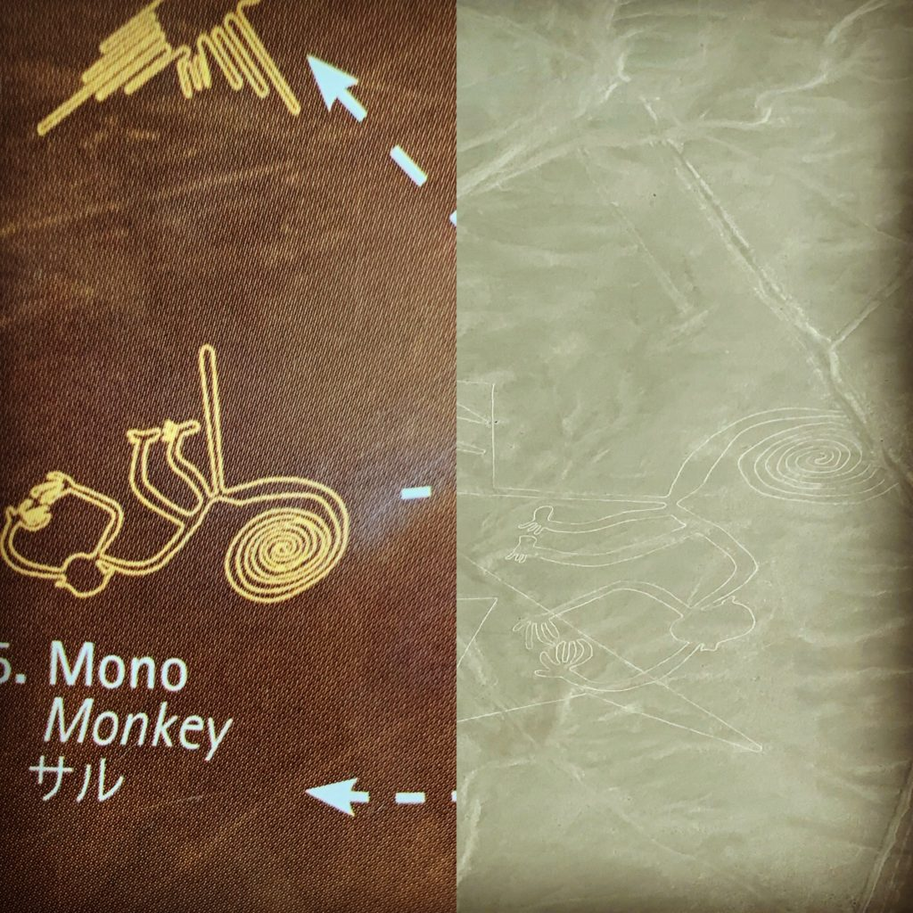 Image of Monkey found in the Nazca Lines